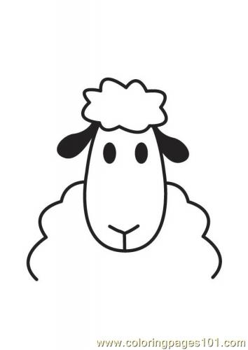 Sheep head Coloring Page