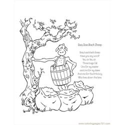 Aa Black Sheep Coloring Page