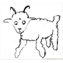 E Draws A Sheep Coloring Page