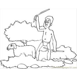 Ine And A Sheep Coloring Page