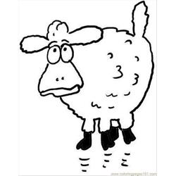 Surprised Sheep Coloring Page Free Coloring Page for Kids