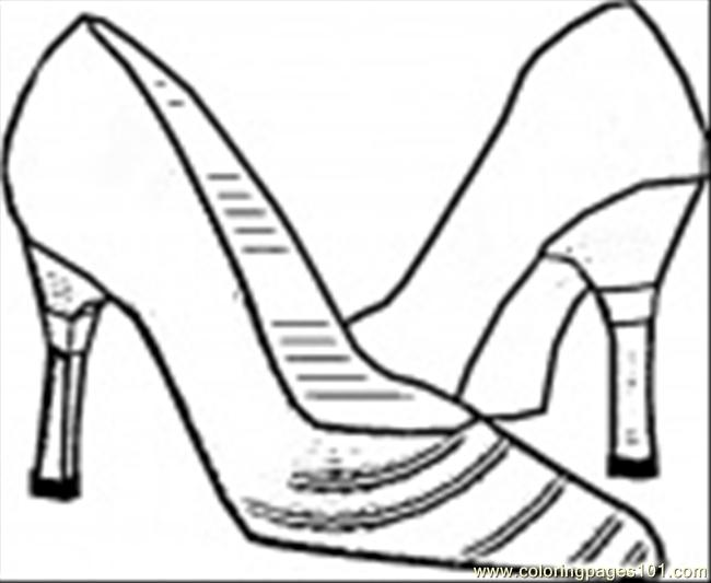 Italian Shoes Coloring Page Coloring Page