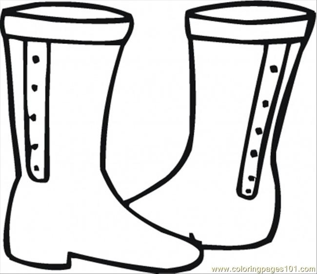 Boots Coloring Page Free Shoes