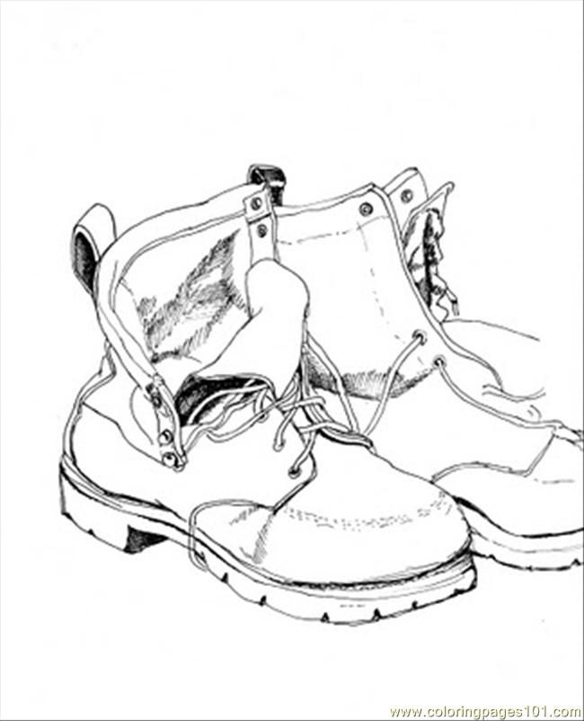 Fathers Shoes Document Coloring Page