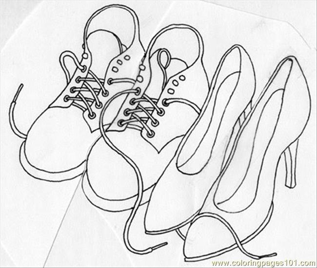 Shoes Crop Coloring Page Free