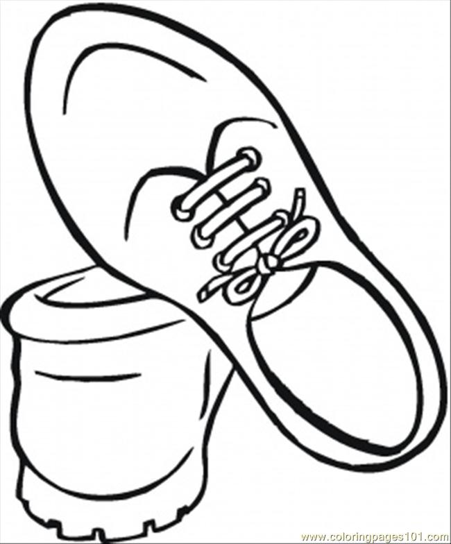 Shoes For Men Coloring Page