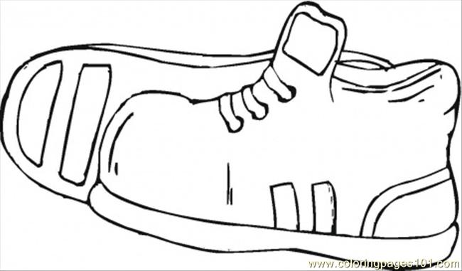 Sport Shoes Coloring Page