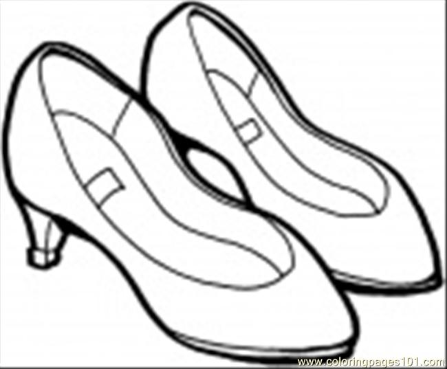 Summershoes Coloring Page Coloring Page