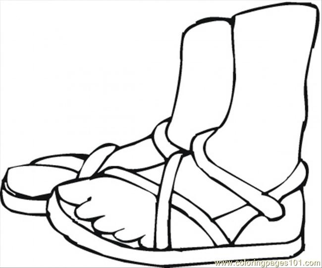Summer Shoes Coloring Page Download