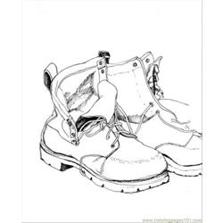Fathers Shoes Document Free Coloring Page for Kids