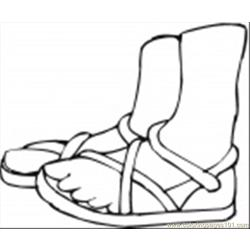 Summer Shoes Coloring Page