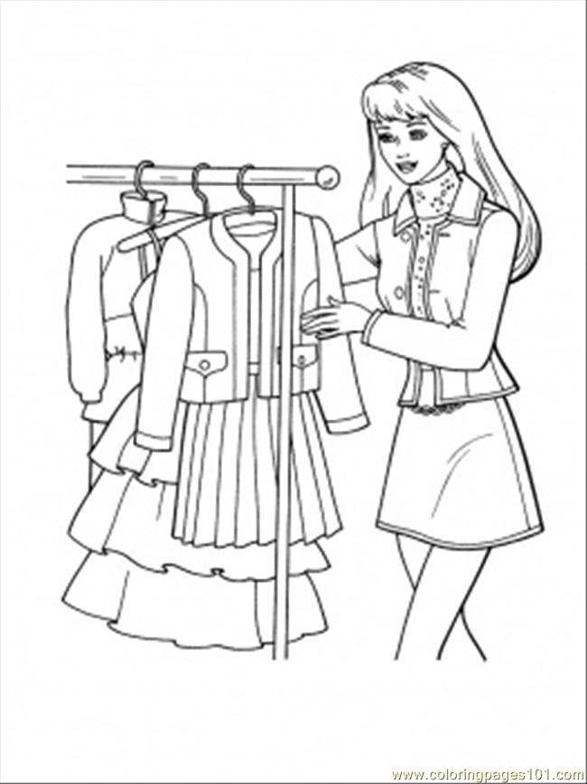 What Dress To Choose Coloring Page Free Shopping Coloring Pages