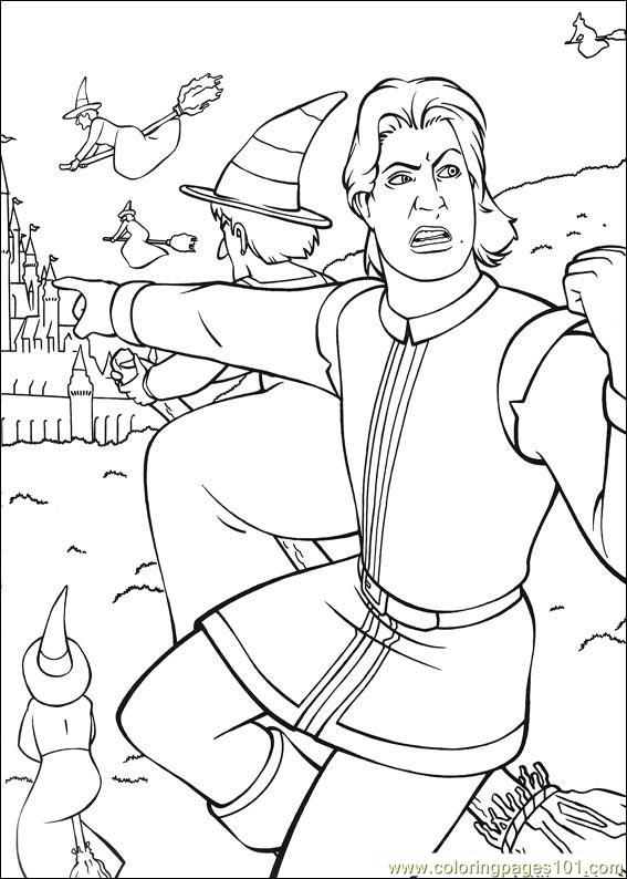 Shrek 3 30 Coloring Page Free Shrek The Third Coloring Pages