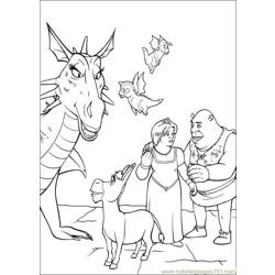 Shrek 3 10 coloring page