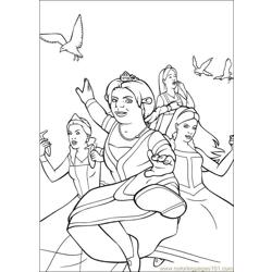Shrek 3 13 coloring page