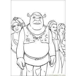 Shrek 3 23 coloring page