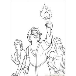 Shrek 3 33 coloring page