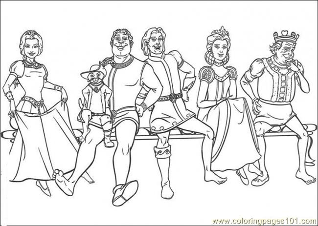 Castle Family Coloring Page