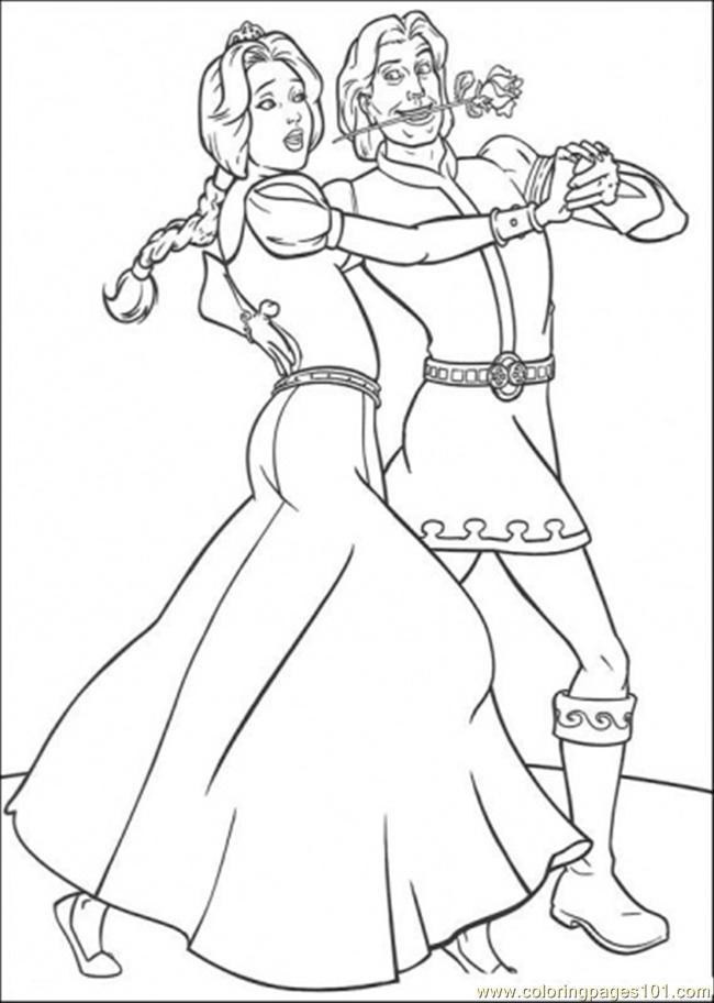 Dancing With Prince Coloring Page
