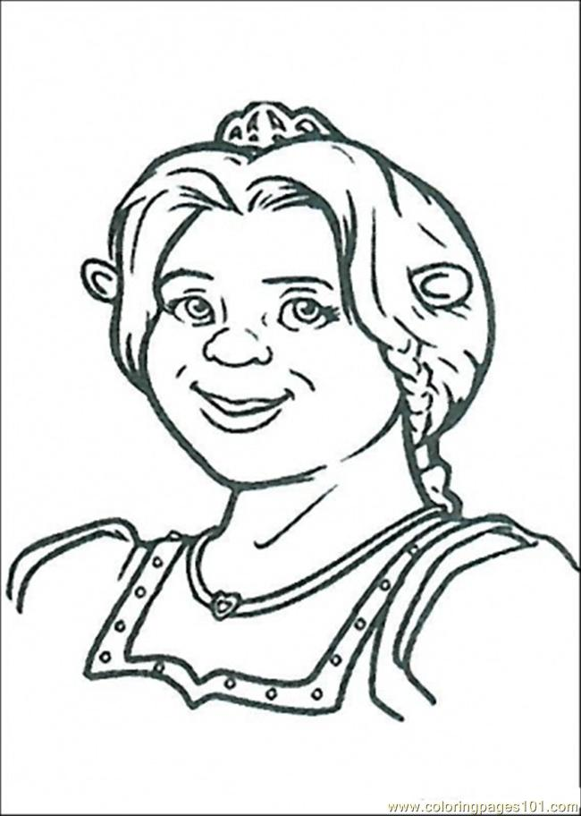 Fiona Ogre Coloring Page Free Shrek Coloring Pages
