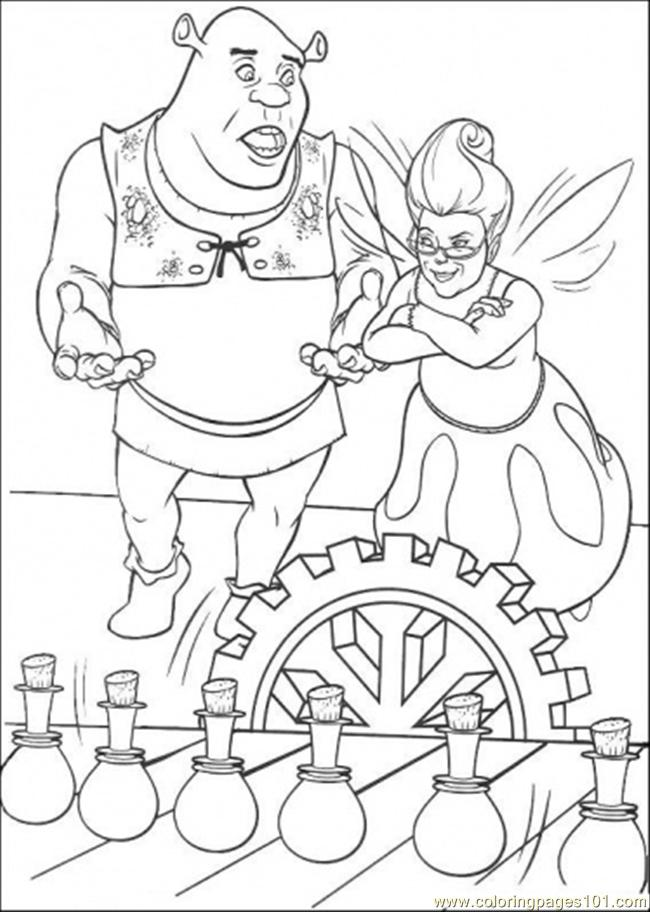 Shrek And Fairy Coloring Page