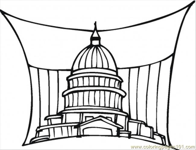 Government In Washington Coloring Page