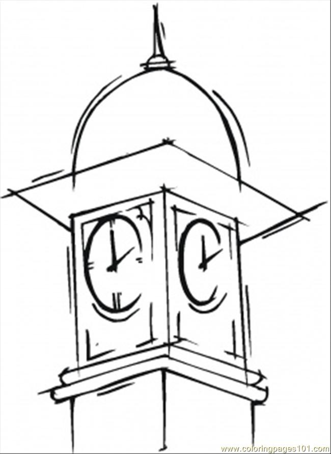 Big Ben In London Coloring Page