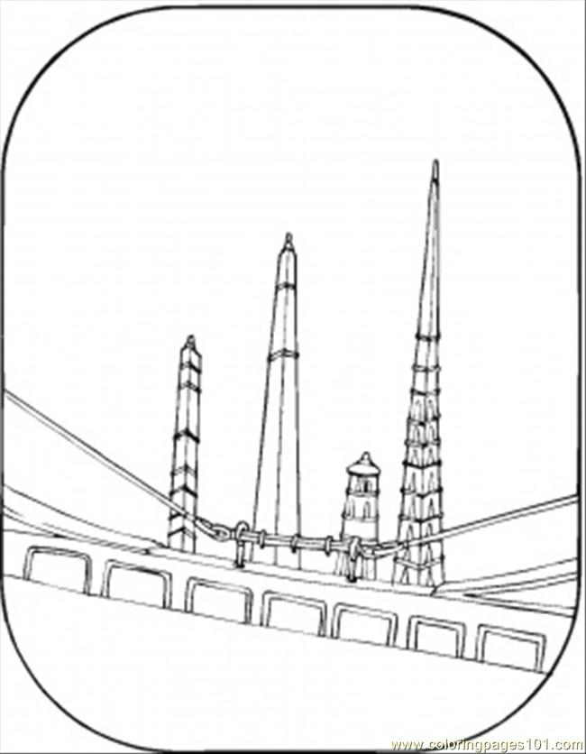 Big Tower Bridge Coloring Page