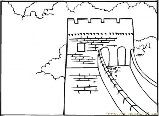 Great Wall Of China Coloring Page - Free Sightseeing Coloring Pages ...