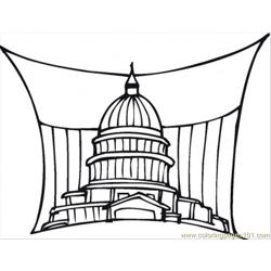 Government In Washington Free Coloring Page for Kids