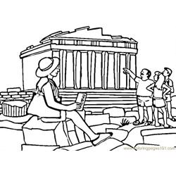 Parthenon Free Coloring Page for Kids