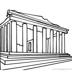 Parthenon greece Free Coloring Page for Kids