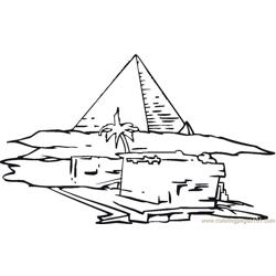 Pyramid Free Coloring Page for Kids