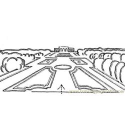 The palace of versailles Free Coloring Page for Kids