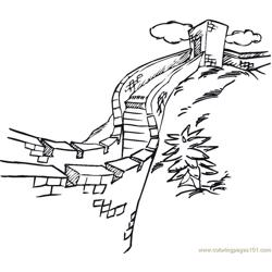 Wall of china Free Coloring Page for Kids