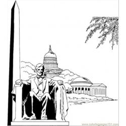 Washington Monument Free Coloring Page for Kids