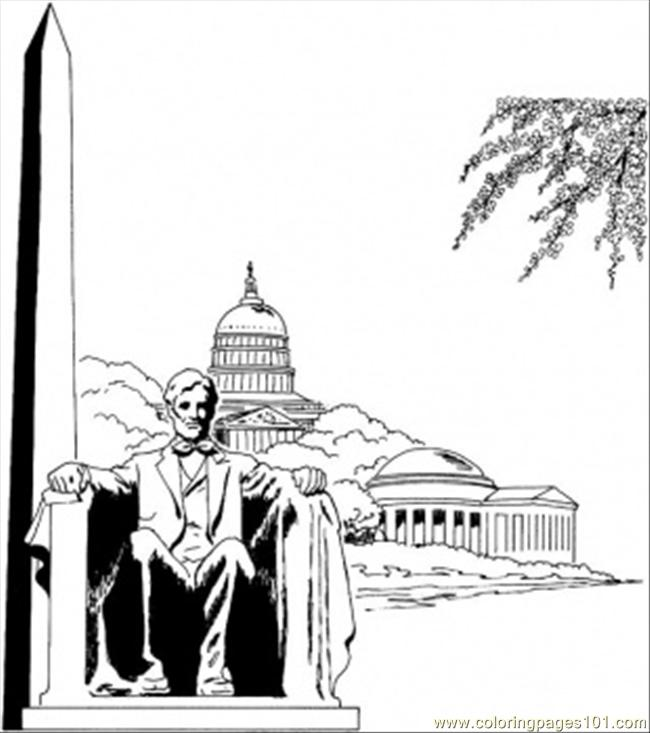 Washington Monument Coloring Page - Free Sightseeing Coloring Pages ...