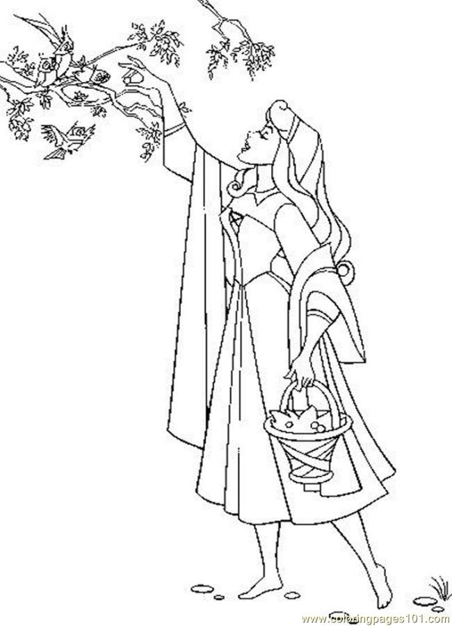 Sleeping Beauty 25 Coloring Page