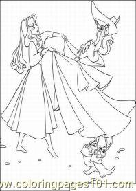 Sleeping Beauty 60med Coloring Page