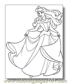 Sleeping Beauty 6 Coloring Page