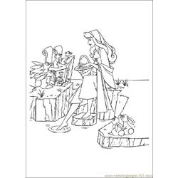 Sleeping Beauty Free Coloring Page for Kids