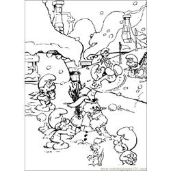 Smurfs 18 coloring page