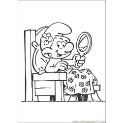 Smurfs 34 coloring page