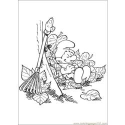 Smurfs 39 coloring page