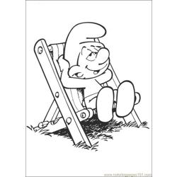 Smurfs 43 coloring page
