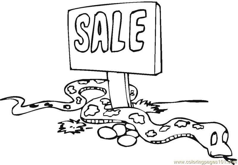 Python for sale Coloring Page