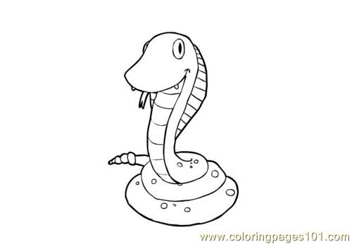 Baby snake 16 Coloring Page