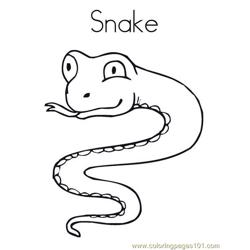 Snake Free Coloring Page for Kids