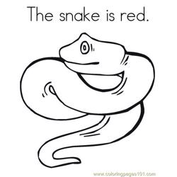 The snake is red Free Coloring Page for Kids