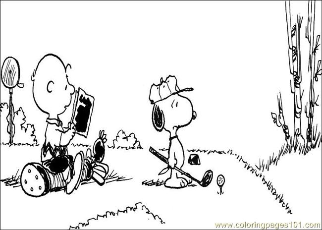 Snoopy 05 Coloring Page Free
